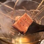 祗園245 - スペシャリテ:鰻と鶉半熟玉子の燻製
