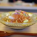 魚石 - 焼き茄子と無花果の冷やし鉢(2017/7)