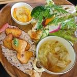 タネ カフェ - ランチプレート 里芋のベイクド