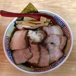 77029605 - 竹岡式燻しチャーシュー(950円)+ヤクミ(玉ねぎ)(クーポン利用で無料)