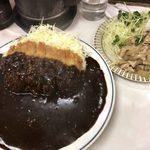 キッチン南海 - 「カツカレー」750円+「しょうが焼」250円