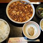 sai-蓮花 - 四川麻婆豆腐定食(ライス大盛り)
