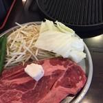 肉屋の正直な食堂 - セルフ焼きのステーキ