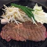 肉屋の正直な食堂 - 肉屋のビフテキ 1,000円