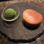 ステーキハウス ミディアムレア - どら焼きと抹茶アイス