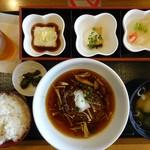 郷 - 料理写真:きのこあんかけ和風おろしハンバーグ御膳