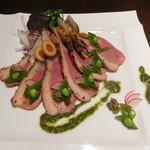 個室×夜景 肉バル 真 - 合鴨の燻製