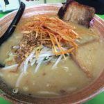 不二乃 - 料理写真:九州ねぎ味噌  肉ねぎラーメン 885円+味噌漬け炙り焼豚1枚 129円。