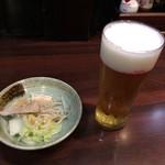 せきとり - 料理写真:生ビールとお通し