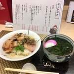 夢草紙 さんだ村 - 寒パチ丼とミニワカメうどん