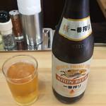 中華そば こてつ - 瓶ビール(KIRIN一番搾り) 480円
