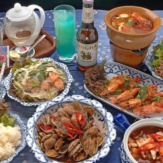 本場タイ料理をコースでお得に♪飲み放題もございます◎