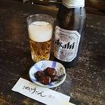 さぬきうどん讚州 - 料理写真:瓶ビール(中)530円とお通し