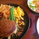 レストランキャトル - 料理写真:ハンバーグステーキランチ ¥880