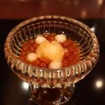 77059525 - 筋子の醤油漬け 梨と柚子のアイス添え