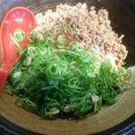 山椒家 - 黒 辛口味 トッピング:ネギ増し、肉増し