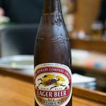 ホルモン道場 - 2017.11 大ビール(550円)キリンラガー