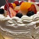シェ・シブヤ - 誕生日ケーキ