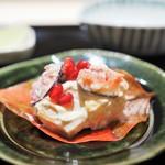 にい留 - 無花果と柿の白和え