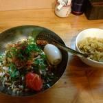 中華そば de 小松 - 汁なし担々麺(カレー飯付)