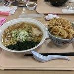 77065903 - あごだし和風ラーメソ+かき揚げ丼!