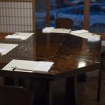 比良山荘 - 2017.11 和室のテーブル席