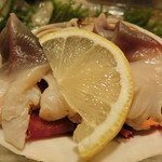 うまい鮨勘 - ホッキ貝のアップ