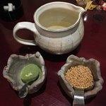 龍のひげ - 出汁茶漬けセット、昆布だし、ぶぶあられ、抹茶塩