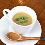 東京料理 ゑの木 - ランチセットのスープ