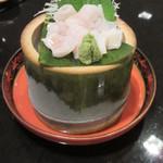 77076660 - 広島産 アナゴ湯霜造り 950円