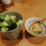 お蕎麦 結 - そばみそ胡瓜