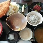 座々丸 - アジフライ定食