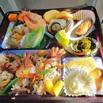 秀丸 - 「海女めし弁当 磯の味(¥1,550)」