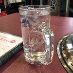 ヤンさんの台所 - 冷たい水。       美味し。
