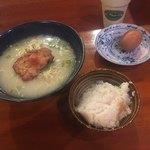 77093036 - 軍鶏水炊きらーめん+鶏だし炊込み御飯+フレンチ地卵のゆで玉子