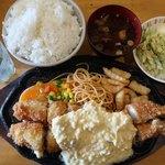 77093437 - ジャンボ&ジャンボ海老フライ定食2700円