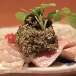Shunai Sasaki - タン、海老芋、胡麻生麩