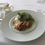 イビスキュス - 魚と海老のテリーヌ トマトとオリーブのソース