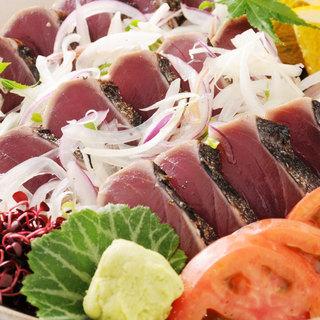 鰹のタタキを始めとする、高知の郷土料理&おらんく家名物竹酒♪