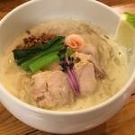 Noodle Stand Tokyo - (COCONUT味噌ラーメン) スーパーフードとして注目のココナッツオイルを使用した味噌ラーメンが登場!BrownSugar1st.との公式コラボラーメン。白味噌と西京味噌の絶妙ブレンドに豆乳鶏スープ。大山どりの西京漬け焼きも絶品です!