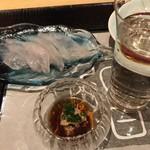 77103676 - カワハギ刺し・肝ポン酢