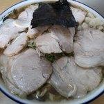 ケンちゃんラーメン - 料理写真:普通盛り油ぽく麺カタ肉増し750円+200円