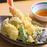浅間茶屋 - 季節の天麩羅盛合せ