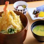 山梨ほうとう 浅間茶屋 - 海老と穴子の天丼