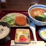 そば処吉野庵 - 料理写真:たぬきセット 850円