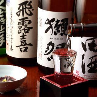 日本酒を常時20種取り揃えております