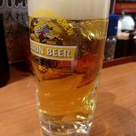 元祖博多 中洲屋台ラーメン 一竜 - 生ビール