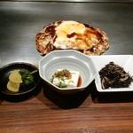 お好み焼き・鉄板焼き よしもと - ミックス焼き+定食セット