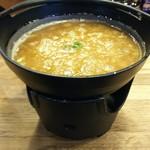 77111607 - 濃厚鶏白湯つけ麺・・火がつけられて煮たつまで松b