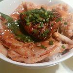 銀座フォワグラ - フォアグラみそ豚丼